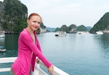 Tourist at Halong Bay
