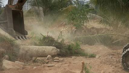 Stock Video Footage 1920x1080 Excavator bucket working