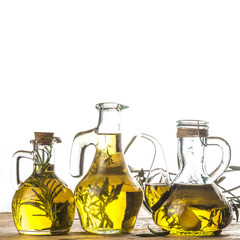 Herbs and garlic olive oil