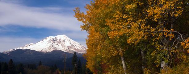 Mt Shasta Rural Fall Color California Nature Outdoor