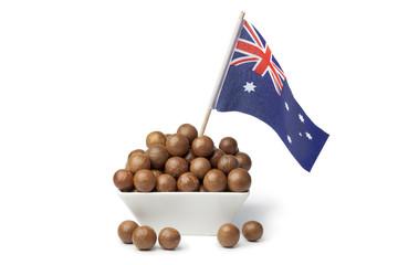 Bowl with Australian macadamia nuts