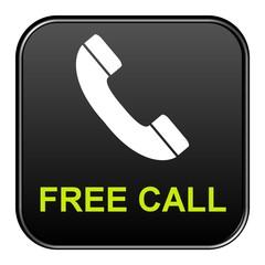 Schwarzer Button: Free Call