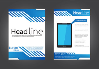 Brochure Flyer design vector template in A4 size