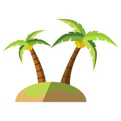 Icono isla con palmeras