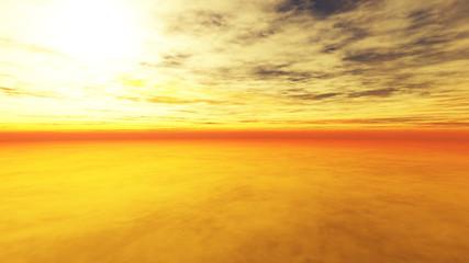 Wolkiger Sonnenuntergang 3