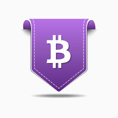 Bit Coin Glossy Vector Icon Design