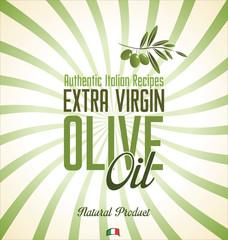 Olive oil retro background
