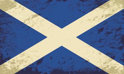 Scottish flag. Grunge background. Vector illustration