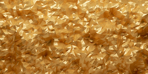 3d vektor polygon hintergrund Gold