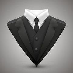 Triangle jacket and tie.