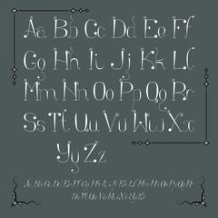 Alphabet with Frames.