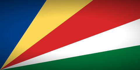Flag of Seychelles.