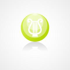 Illustration of lyre web icon