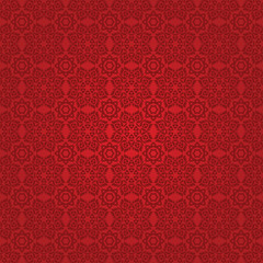 Eastern red fabric with ornament