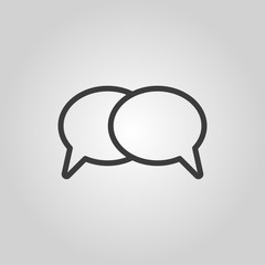 The speech bubbles icon. Talk symbol. Flat