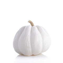 Fresh white pumpkin isolated on white background