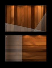 wooden vector template
