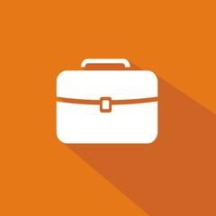 Icono maletín naranja sombra