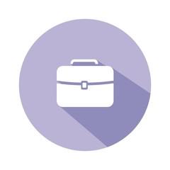 Icono maletín malva botón sombra