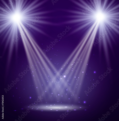 Foto op Aluminium Licht, schaduw Stage. Vector illustration.