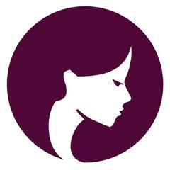 Beautiful girl vector logo design template. Spa or beauty salon