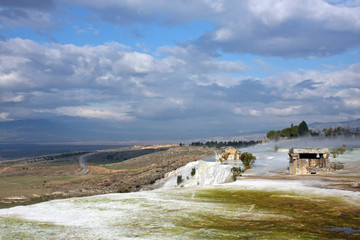 the ruins of the necropolis of the ancient city of Hierapolis