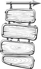 Wooden boards black