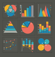 Set of colored business graphs