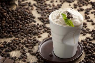 Cold fresh ice coffee