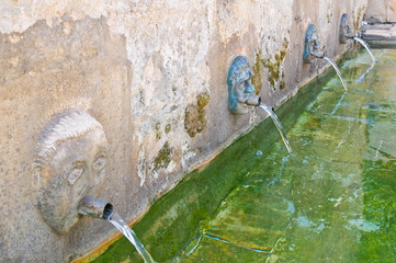 Medieval fountain. Laterza. Puglia. Italy.