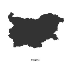 Black map of Bulgaria for your design