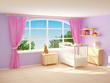 babyroom with big window