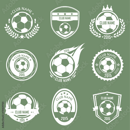 Zdjęcia na płótnie, fototapety, obrazy : Soccer emblems
