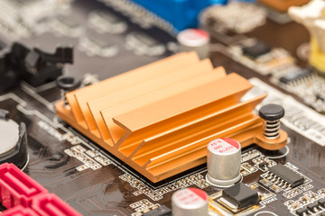 Chipset Heatsink On Computer Motherboard