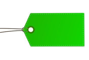 Schild Anhänger grün