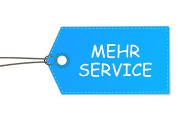 Schild mehr Service