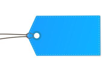 Anhänger zettel blau
