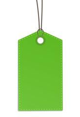 Anhänger zettel grün