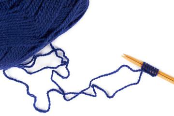 Knitting at the beginning