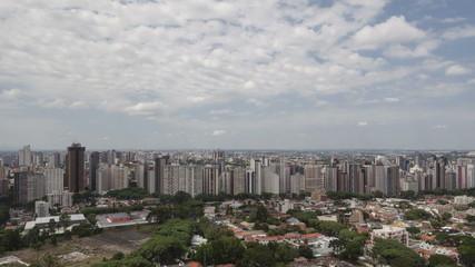 4K time lape aerial view Curitiba Skyline