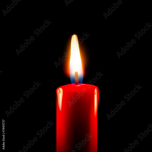 Burning candle - 78431737