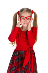 Fashion little girl in glassess