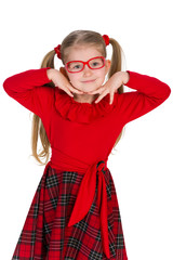 Adorable little girl in glassess