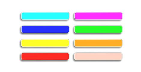 Набор кнопок для сайта разного цвета
