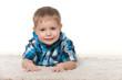 Cute preschool boy