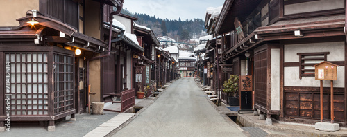 Fotobehang Japan Takayama in der Präfektur Gifu