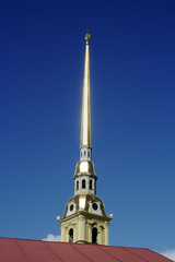 St. Petersburg, the spire of the Peter and Paul Cathedral