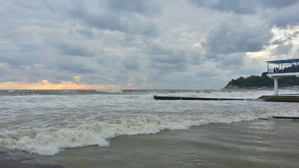 Storm weather at the Black Sea coast