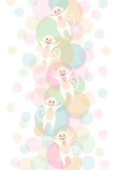 猿と水玉模様