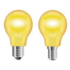 Ampoule jaune sans ombre